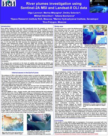 Lavrova Olga. River plumes investigation using Sentinel-2A MSI and Landsat-8 OLI data