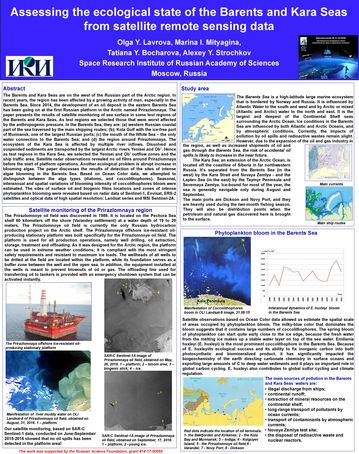 Lavrova O.Yu. Assessing the ecological state of the Barents and Kara Seas from satellite remote sensing data