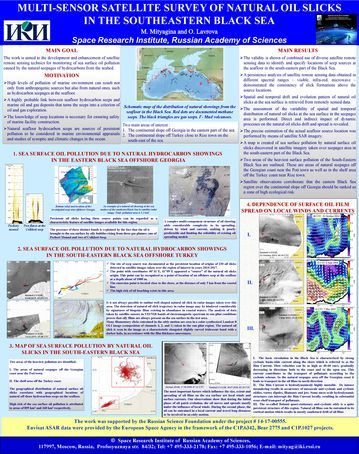 Mityagina M.I. Multi-sensor satellite survey of natural oil slicks in the southeastern Black Sea